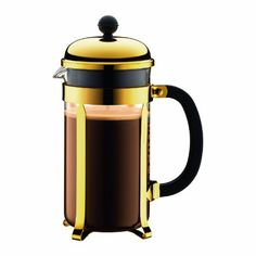 Bodum Chambord 1-Liter 8-Cup Coffee Maker, 34-Ounce, Gold Bodum