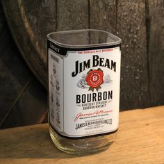 Empty Jim Beam Bourbon Whiskey Bottle Cut and by ReWickedCandle