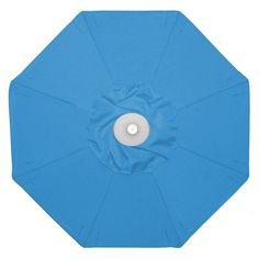 Galtech 9-ft. Aluminum Auto Tilt Patio Umbrella with Umbrella Lights Suncrylic Caribbean Blue - 936BK-23
