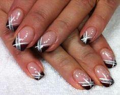 Nail Art Galerie - Beauty-Tipps - Herrlich Hair and Nail-Ideen Nail Tip Designs, French Nail Designs, Simple Nail Art Designs, Nail Polish Designs, Beautiful Nail Designs, Fingernails Painted, Gel Nails, Acrylic Nails, Nail Nail