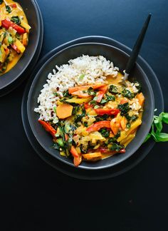 Homemade Thai red curry recipe with vegetables! So much better than takeout. cookieandkate.com