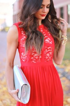 Gorgeous red cut out dress for Christmas!