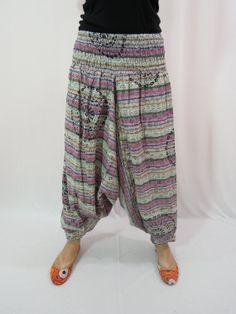 Harem Pants Baggy Loose Genie Harem Pants Trouser by Labhanshi, $20.00