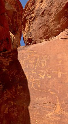 Petroglyphs in the Valley of Fire State Park.