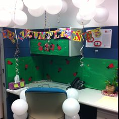 Ladybug Birthday decoration at the office Office Birthday, Birthday Decorations, Birthday Ideas, The Office, Ladybug, Office Prank, Prank Ideas, Baby, Fiestas