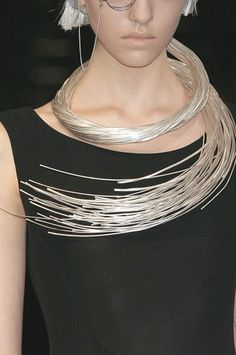 No thank you! I would injure myself with this little number <> modern jewelry | Yohji Yamamoto #modern jewelry designs