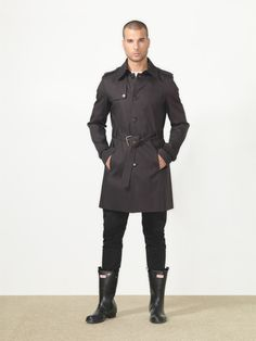 Mens Hunter boots - man fashion is soo dif these days. . .love mine