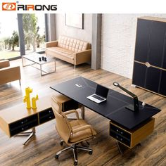 Source New Design MDF Luxury Wood Table Modular Office Furniture Modern CEO Executive Office Desk on . Corporate Office Design, Office Table Design, Modern Office Design, Office Furniture Design, Office Interior Design, Home Office Decor, Office Interiors, Modern Furniture, Office Designs