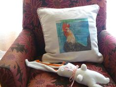 Handmade Vintage Fabric Fine Art Pillow by Studioshannon on Etsy, $90.00