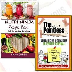 #Nutri Ninja Recipe Book 70 Smoothie Recipes Collection Journal 2 Books Set. #BooksCollection #wholesales_Books #Diets_Books