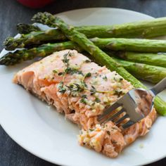 This Baked Honey Salmon is super-flavorful and can be made in less than 30 minutes!