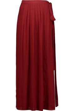 Shop on-sale Étoile Isabel Marant Kelsey wrap-effect pleated voile maxi skirt. Browse other discount designer Skirts & more on The Most Fashionable Fashion Outlet, THE OUTNET.COM