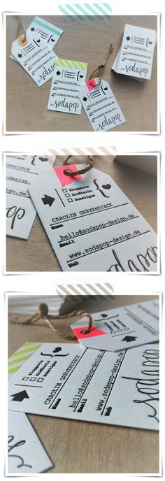 Great idea for business cards. Via Caro @sodapop design.