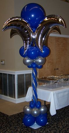 Elegant balloon columns perfect for upscale events