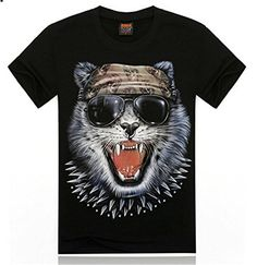 Black Cotton 3D Print Pattern Animal Evil Skull Cat Glasses Shirt T-Shirt Men's Qiyun http://www.amazon.co.uk/dp/B00NSGUA08/ref=cm_sw_r_pi_dp_TKHrvb12ZGM6G