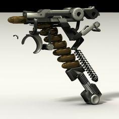 pistole luger 3d obj - Luger P08... by Poornachandra