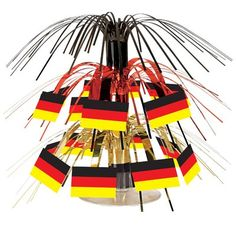 The Holiday Aisle German Flag Cascade Centerpiece (Set of 3)