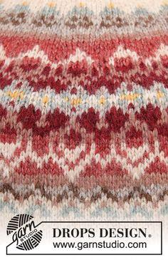 Jumper Knitting Pattern, Knitting Patterns Free, Knit Patterns, Free Knitting, Free Pattern, Drops Design, Muse, Schematic Drawing, Magazine Drops