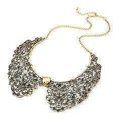 Retro Metal Hollow Sham Collar Necklace – EUR € 4.13