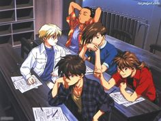Gundam Wing this is one of my fav pix of the boys :) Heero doesn't need a pencil to stab him