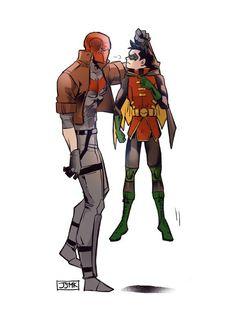 FanArt: Jason Todd and Damian Wayne Batman Robin, Batman Y Superman, Robin Dc, Batman Arkham, Batman Art, Nightwing, Batwoman, Tim Drake, Damian Wayne