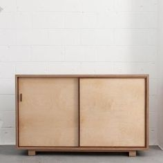 "Walnut sideboard - veneer on Birch plywood. A solid piece of furniture that is a beautiful addition to any home.  ""Larry and I are stunned at how beautiful the"