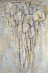 """""""The Tree A"""" in 1913 by Piet Mondrian. Oil on canvas. Tate UK."""