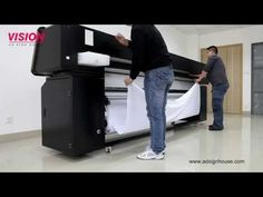 Direct Printing on Fabric Textile Printer VS-2602TX with EPSON DX5 Print Head - YouTube