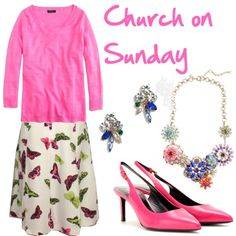 Church on Sunday by deneet on Polyvore featuring Yves Saint Laurent and J.Crew