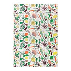 IKEA HEMTREVNAD vegetable and fruit farmer's market pattern fabric from IKEA of Sweden. Bold whiimsical fun multicolour veggie and fruit pattern on a Ikea Fabric, Fabric Rug, Curtain Fabric, Fabric Shop, Cotton Fabric, Ikea Curtains, Sewing Curtains, Diy Roman Shades, Bungalow Kitchen