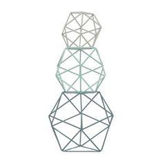 Designer set of three aqua geo balls at debenhams.com