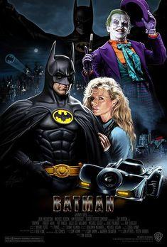 "Michael Keaton, Kim Basinger and Jack Nicholson in ""Batman"" directed by Tim Burton. Im Batman, Spiderman, Batman 1966, Heros Film, Batman Kunst, Photographie Indie, Nananana Batman, Image Film, Batman Artwork"