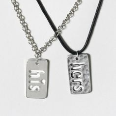 His and Hers Necklace Set