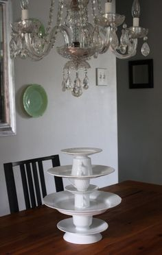 make your own cake stand! cute.