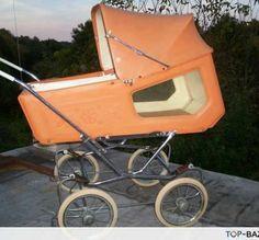 kocik s okienkami Vintage Pram, Baby Buggy, Baby Prams, Good Old Times, Baby Carriage, Wheelbarrow, Unique Baby, Baby Strollers, Baby Kids