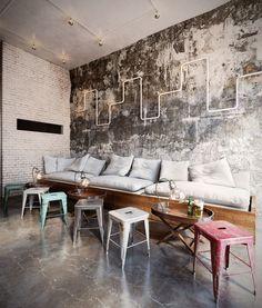 Cool wall, perfect setting