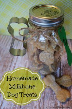 Homemade Milk Bone Dog Treats! #easy #diy #homemade / but maybe with organic ingredients .