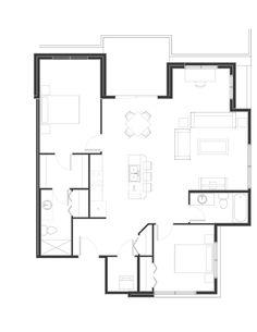 Peterson Landing New Apartments for rent in Kamloops on Summit Drive, Sahali Apartments, Landing, Den, Floor Plans, Group, Type, Bedroom, Bedrooms, Floor Plan Drawing
