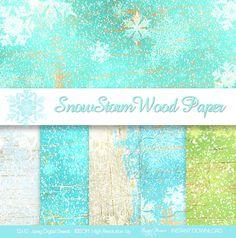 CHRISTMAS Snow Digital Paper SNOW Paper by SparkalDigitalDesign, $4.85  #Scrapbooking #DigitalPaper