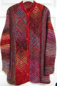 Diamond Panel Jacket pattern by Melody Johnson Sweater Knitting Patterns, Knitting Designs, Knit Patterns, Free Knitting, Knitting Projects, Mosaic Knitting, Crochet Stitches, Knit Crochet, Knitted Cape