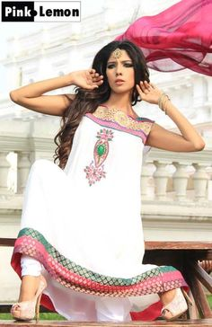 long white frock for eid collection
