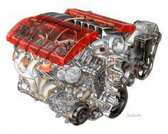 Corvette Under the Hood Used Engines, Engines For Sale, Crate Engines, Chevrolet Corvette, Corvette C6 Z06, Ls Engine, Truck Engine, Engine Repair, Buick