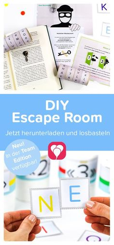 Escape Room - Team Edition Zuhause spielen - balloonas.com Escape Room Diy, Escape Room For Kids, Diy Games, Party Games, Mystery Dinner Party, Fun Diy Crafts, Diy Presents, Activities For Kids, Projects To Try
