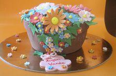 Torta vaso con fiori colorati 13
