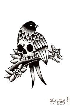 Kyler Martz bird and skull