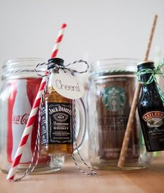 The Original DIY Mason Jar Cocktail Gifts!- The Original DIY Mason Jar Cocktail Gifts! Gift for the men - Diy Christmas Gifts, Holiday Crafts, Holiday Fun, Christmas Crafts, Christmas Quotes, Christmas Gifts For Grandma, Christmas Stocking Stuffers, Cheap Christmas, Valentine Gifts Ideas