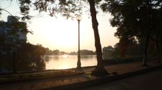 The lake in the centre of the old town in Hanoi, Vietnam