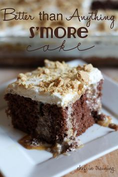 Better than Anything Smore Cake!... This cake is super easy and is the perfect way to enjoy a hint of summer year round!