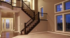 Love this staircase from an Ironwoods Builders home.