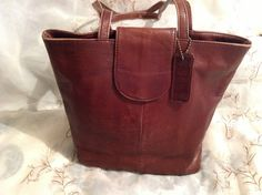 Vintage J.Jill Leather Dark Brown iPad Tote Shoulderbag Chic Preppy Stylish Fashionable Wear/Back To School